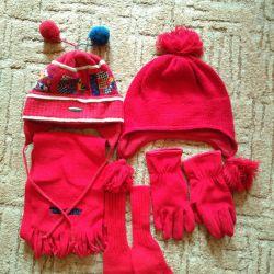 Set hat, scarf, gloves