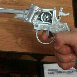Пистолет алюминевый игрушечный СССР