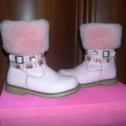 winter boots natural leather