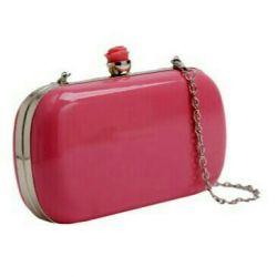 Новый клатч розовый
