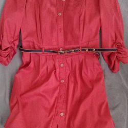 Блузка-рубашка удлиненная