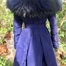Coat cu blana de vulpe
