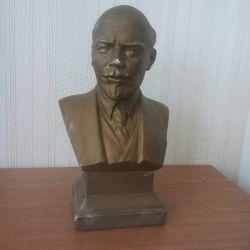 Bustul bronz al lui Vladimir I Lenin
