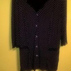 white polka dot blouse 64 size