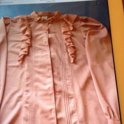 Blouse with chiffon