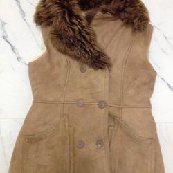 Open sheepskin coat