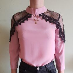 Blouse, new sweater with lace