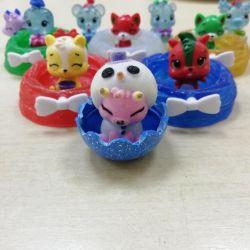 Набор милейших мини-игрушек. Б/У.