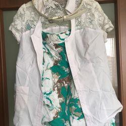 Βαμβακερή φούστα φούστα 46 μέγεθος