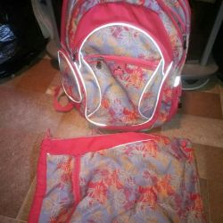 Backpack and bag for change