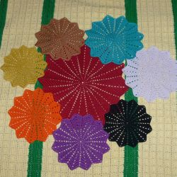 I knit crochet napkins to order