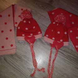 Шапка шарф (комплект) Chicco