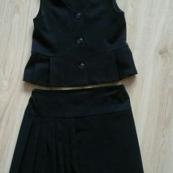 Skirt and vest for school
