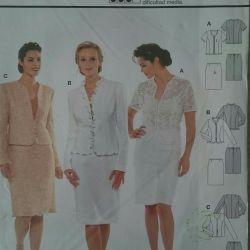 BURDA pattern jacket, jacket, skirt