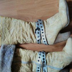 сапоги зимние туфли