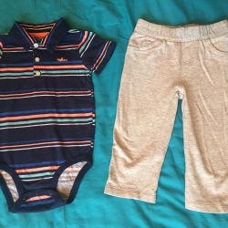 Body polo and pants Carters 18m