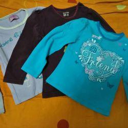 Πλεκτά μπλούζες για 2-3 χρονών