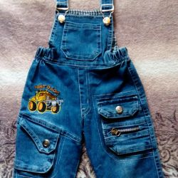 The overalls are jeans.