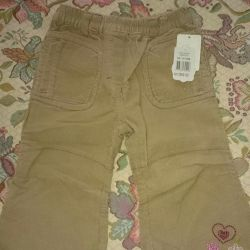 Corduroy new trousers for the girl of river 86. Baby