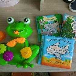 Banyo oyuncak + su oyun kitapları