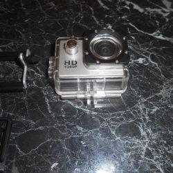 HD 1080P action camera in waterproof housing