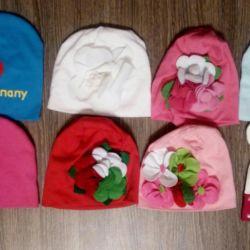 Пакет шапок 1-3 года( 48-50размер)