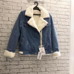 Denim jacket new warm fur