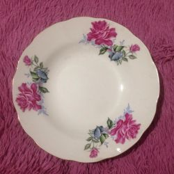 Chic plates with roses 12pcs