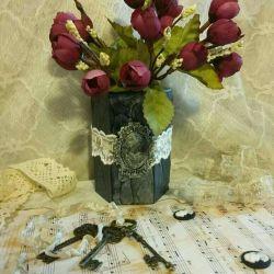 Kalem vazo hediye iğne oymacılık topu