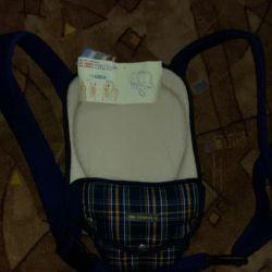 Panda carrying backpack. New