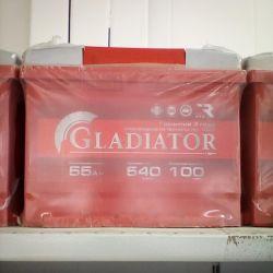 Аккумулятор GLADIATOR 55AH 540A новый