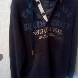 Gömlek imitasyonlu sweatshirt