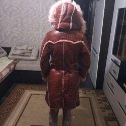 Sheepskin coat for women, natural