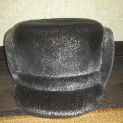 Bir mühür doğal kürk şapka