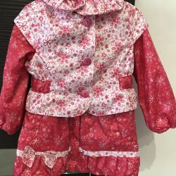 New !!!! A beautiful girl's raincoat.