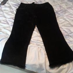 Ο χειμώνας είναι πολύ ζεστός σε ένα fleece, καινούργιο ιταλικό παντελόνι