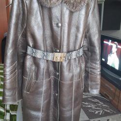 Sheepskin showy σοκολάτα-γκρι χρώμα