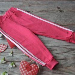 Yeni kız çocuklar için spor pantolonları