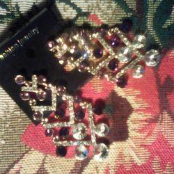 Beautiful earrings, colorful, bijouterie