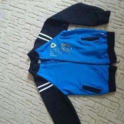 Olympic jacket on the boy