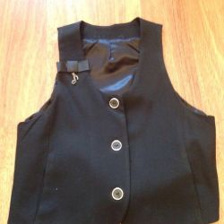 Vest to school black
