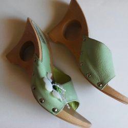 Papuci din piele, înfundă piele nouă de dimensiuni 37