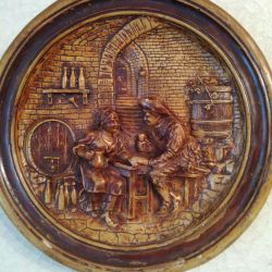 Plate for wall, panorama, antique