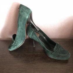 Goffredo fantini 36 suede loafers