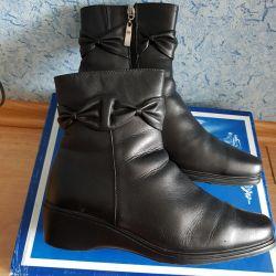 Ботинки натур.кожа