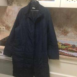 Warm women's raincoat