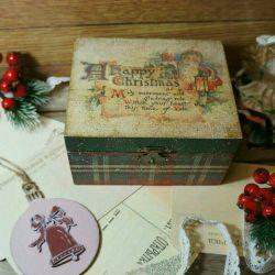 Jewelry box vintage gift decoupage decor