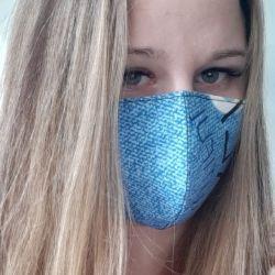 Yeniden kullanılabilir tıbbi maske mavi