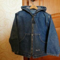 Denim jacket on a boy