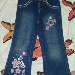 Selling jeans for a girl from 3.5 years to 4.5 years old